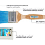 Nespoli FreshBox Paint Brush 50mm2 inch Italian-Made with FillPro High-Tech Filaments