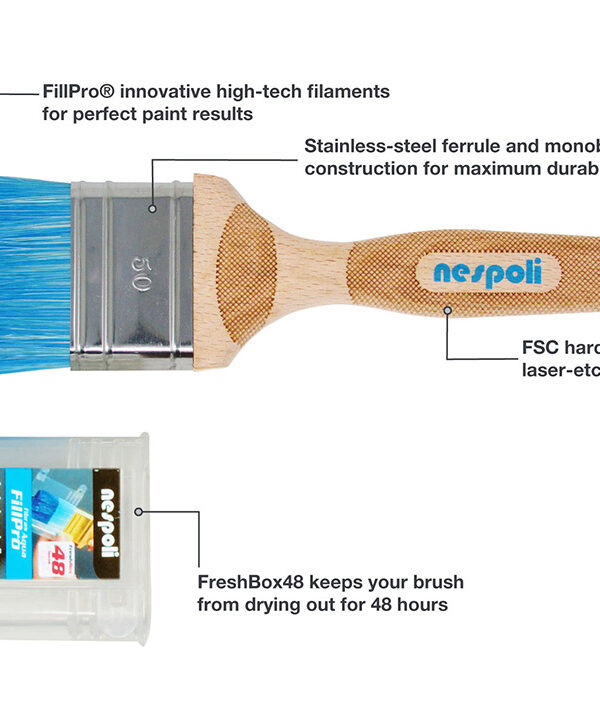 Nespoli FreshBox Paint Brush 50mm/2 inch