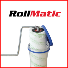 Click & Roll Time-Saving Paint Roller System, 25cm Paint Roller, 3/4″ pile Teflon-Coated Woven Fabric