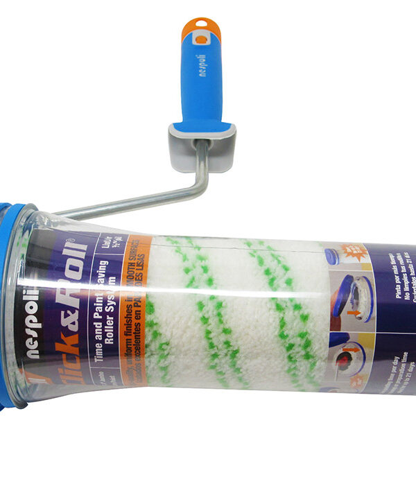 Nespoli Click and Roll Time-Saving Paint Roller with Freshbox Ritmo Teflon®-Coated 1/2in Pile