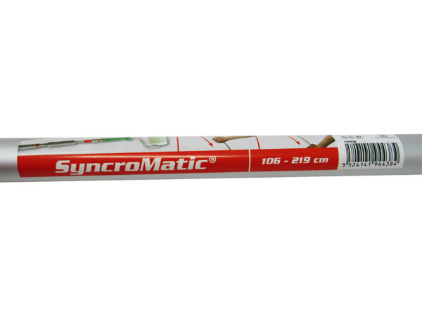 Nespoli SyncroMatic Aluminum Telescopic Extension Pole for Click and Roll Paint Rollers 3.5-7.2 feet
